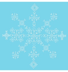 Lace snowflake isolated pattern sample decoration vector image vector image