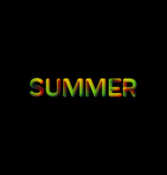 3d gradient summer season sign vector image