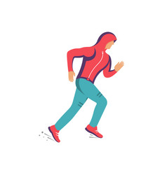 a runner vector image