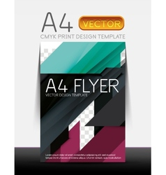 Abstract flyer brochure design template vector