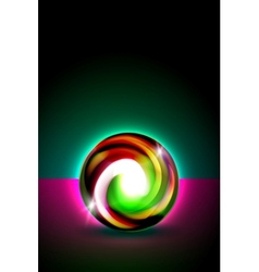 Abstract glowing ball for your design vector image