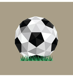 Abstract paper origami soccer ball vector