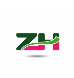 Alphabet Z and H letter logo vector image