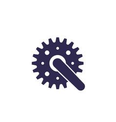 bicycle crank icon on white vector image