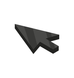 Black cursor icon isometric 3d style vector image