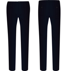 Black elegant pants vector