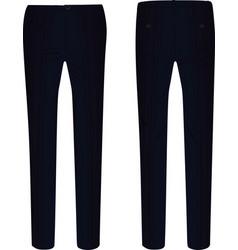 Black elegant pants vector