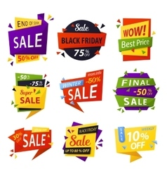 Black friday stickers or tags labels for selling vector