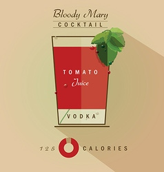 Bloody mary icon vector