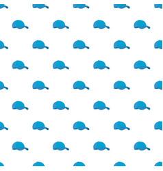 blue baseball cap pattern seamless vector image