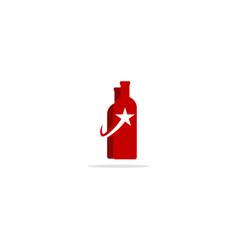 Bottle star logo vector