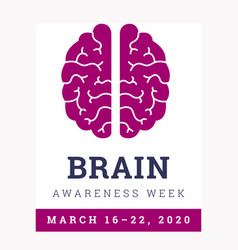 Brain awareness week 2020 vector