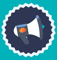 Bullhorn design vector