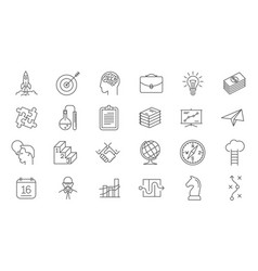 business process icon set vector image