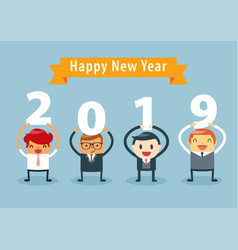 businessman happy new year vector image