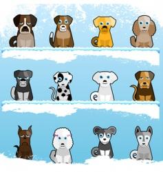 cartoon dogs vector image