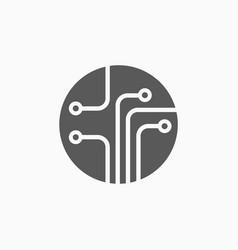 circuit board icon vector image