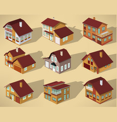 city houses in perspective vector image