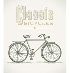 Classic gentlemans bicycle vector image