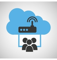 cloud computing service wifi router vector image
