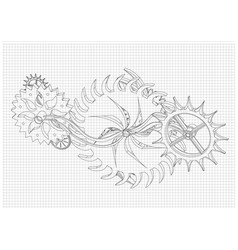 cogwheels on a white vector image
