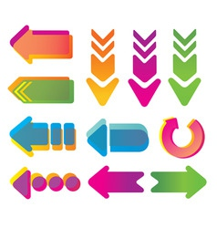 colorful arrows vector image