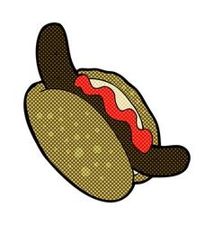 comic cartoon hotdog vector image