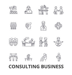consulting business business meeting business vector image