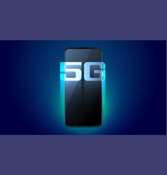 digital mobile 5g fifth generation fast speed vector image