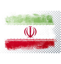 distortion grunge flag iran vector image