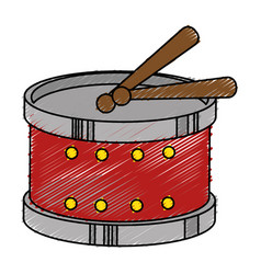 drum instrument toy icon vector image