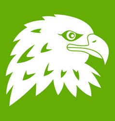 eagle icon green vector image