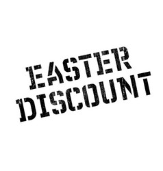 Easter discount rubber stamp vector