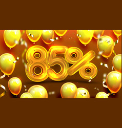eighty five percent or 85 benefit offer vector image