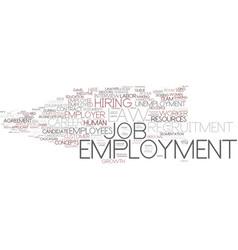 Employment word cloud concept vector