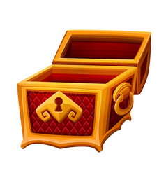 empty golden chest vector image