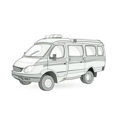 Fantasy ambulance transport on white vector