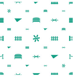 Fence icons pattern seamless white background vector