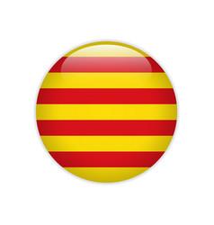 Flag catalonia button vector