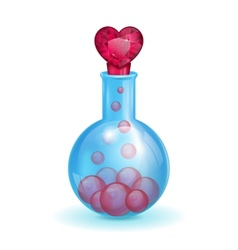 Flask with a love potion vector