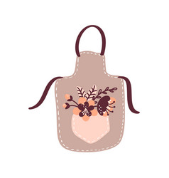 Floral cooking apron for food vector