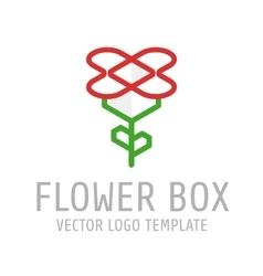 Flower box logo vector