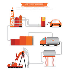gas and oil industrial infographic vector image