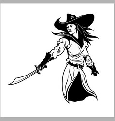 girl pirate vector image
