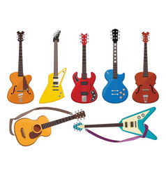 guitars music sound plays instruments classical vector image