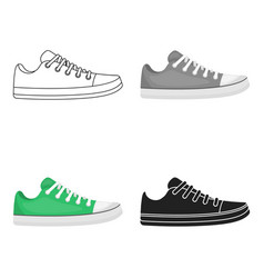 Gumshoes icon in cartoon style isolated on white vector