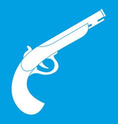 Gun icon white vector