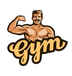 Gym logo sport fitness or bodybuilding vector
