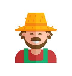 happy gardener icon vector image