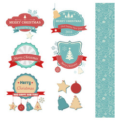happy new year stickers set vector image